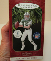 1997 NFL Hallmark Keepsake New York Jets Joe Namath Ornament+Trading Card - $10.99