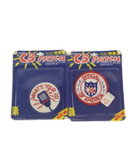 2 Vintage Embroidered Applique Patch Post Cards 1976 CB Radio What's You... - $24.99