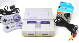 SNES Console System Bundle, Controllers, Brand New Wires & Power Adapter - $99.99