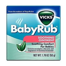 Vicks BabyRub Soothing Ointment Sooting Comfort for baby1.76 oz - $35.00