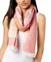 Echo Women's Lotus Floral Jacquard Fringed Scarf (Pink) - $50.13