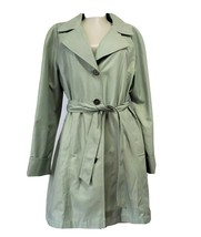 Womens Portrait Petite Large Seagreen Trench Coat with Belt size PL - $24.99