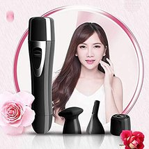Facial Hair Remover for Women,4-in-1 Nose Hair Trimmer,USB Rechargeable Waterpro image 7