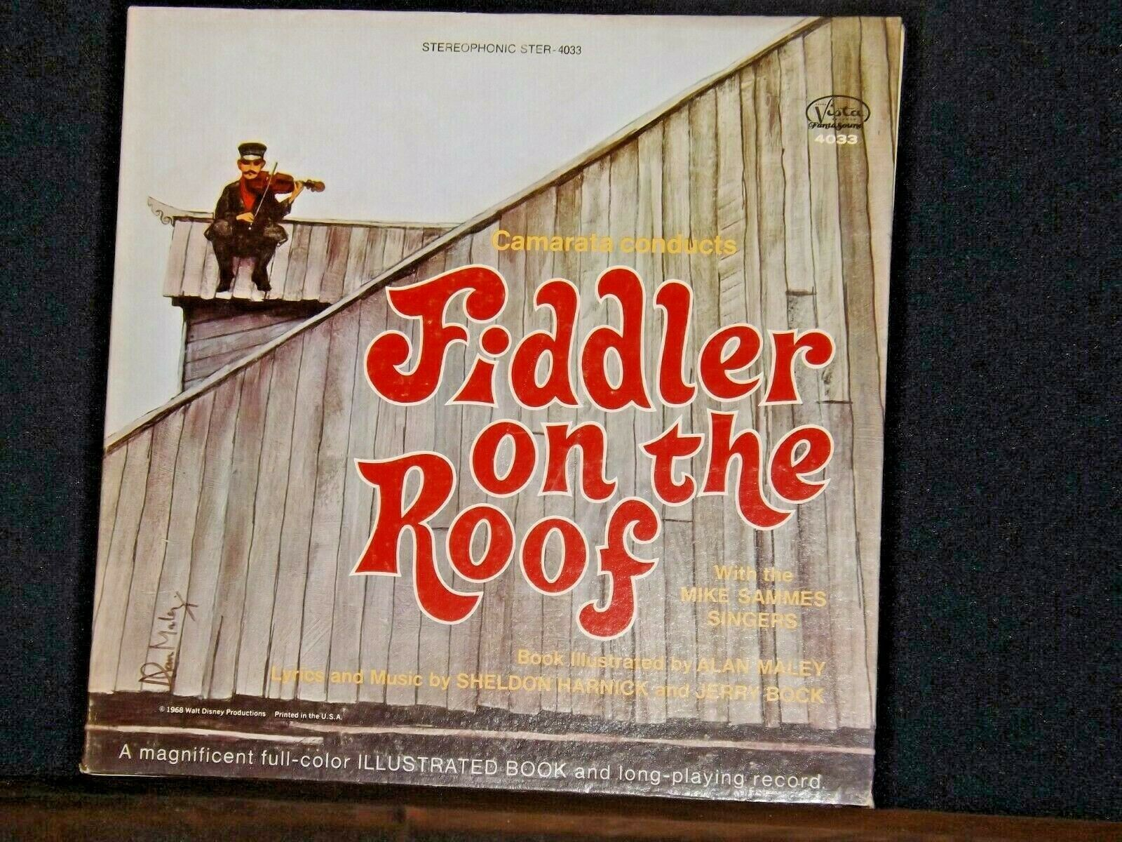 Fiddler on the Roof Record  AA-191744  Vintage Collectible