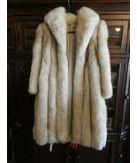"""Vintage 1980s Woman's Natural Blue Fox Coat from Saga Select 48"""" Long Si... - $1,485.00"""