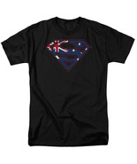 Australian Superman Logo T Shirt Licensed Comic Book Movie Tee Black - $17.99+
