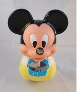 """Mickey Mouse Roly Poly Chime Ball Toy 7"""" tall Vintage - $3.95"""