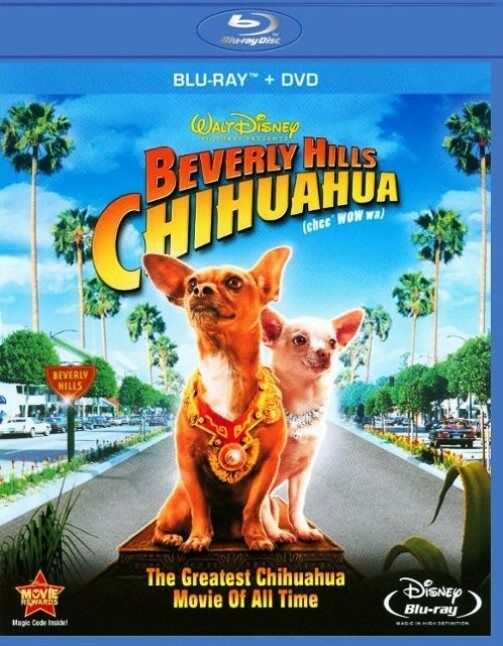 Beverly Hills Chihuahua (2009 Blu-ray/DVD, Widescreen, Disney, 2-Disc Set) NEW