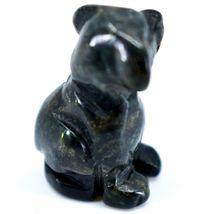 Kambaba Jasper Gemstone Tiny Miniature Puppy Dog Figurine Hand Carved in China image 4