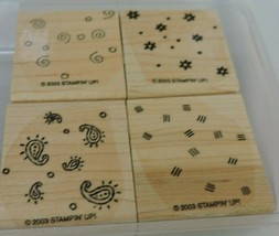 Stampin Up Fresh Fillers Mounted Stamp Set Confetti Flowers Floral Swirls 2003 - $9.00