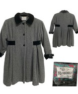 Rothschild Long Coat Charcoal Black Wool Girl's Size 6 - $44.55