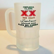 Cerveza Clara XX Dos Equis Lager Especial Mexican .3 L Beer Mug Frosted ... - $33.27