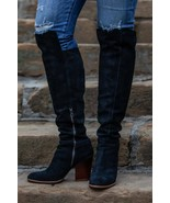 Womens Kork-Ease Boots Pavan Over The Knee OTK Tall Black Leather Boots ... - $153.33
