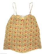 Diane von Furstenberg DVF Flowy BOHO Silk Floral Tank Top Camisole sz 6 ... - $48.50