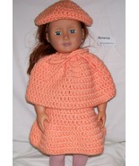 American Girl 3 Piece Outfit, Handmade, Crochet, Poncho, Skirt, Hat, 18 ... - $25.00