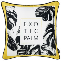 18x 18 Tropical Exotic Palm Squares Decorative Throw Pillow Cover - $16.27