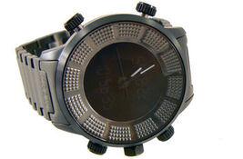 KR3W Mens K1006 Stainless Steel Digit Dual Analog Digital Wrist Watch New in Box image 3