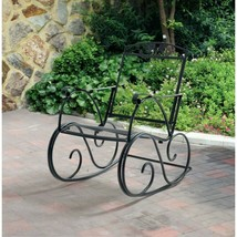 Outdoor Wrought Iron Rocking Chair Porch Rocker Patio Furniture Deck Sea... - $98.88