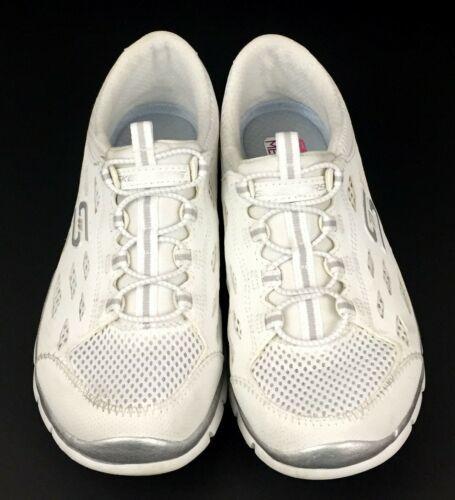 Skechers Gratis Going Places Women's White Memory Foam Insole Shoes 22603 Size 6