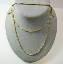 3 Piece Set 14 KT Gold on SOLID Sterling Silver Faceted Chain Necklace B... - $64.35