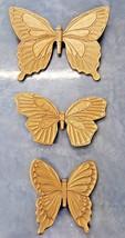 SYROCO Gold Butterflies 1968 Garden Burwood Outdoor Decor Vintage 60s HO... - $29.68