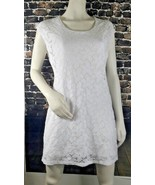 Victoria's Secret Sheath Sleeveless Lace Overlay Stretch Pullover Size D... - $14.01