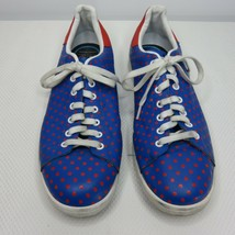 Adidas X Pharrell Stan Smith Polka Dot Leather Shoes Sneakers Blue Red S... - $69.25