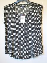 Chaps by Ralph Lauren Womens Black Geometric Sleeveless Blouse Tank Top ... - $29.99