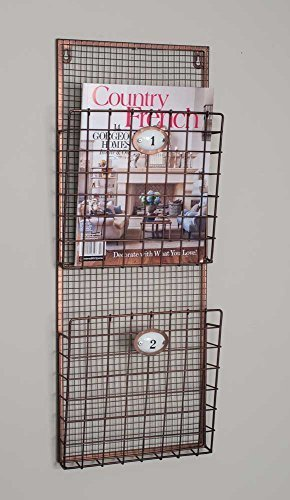Vintage Style Wall Mounted Magazine Rack or Door