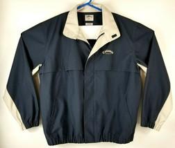 Callaway Golf Sport Outerwear Full Zip Jacket Mens M Blue Water Repellent Vented - $28.53