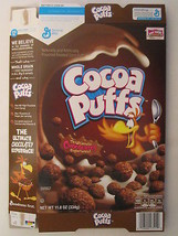Empty GENERAL MILLS Cereal Box 2015 Cocoa Puffs 11.8 oz CHOCOLATEY [G7C5d] - $7.68