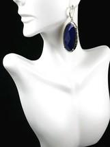 Premier Designs CeCe Blue Green Reversible Drop Dangle Pierced Earrings New - $11.29