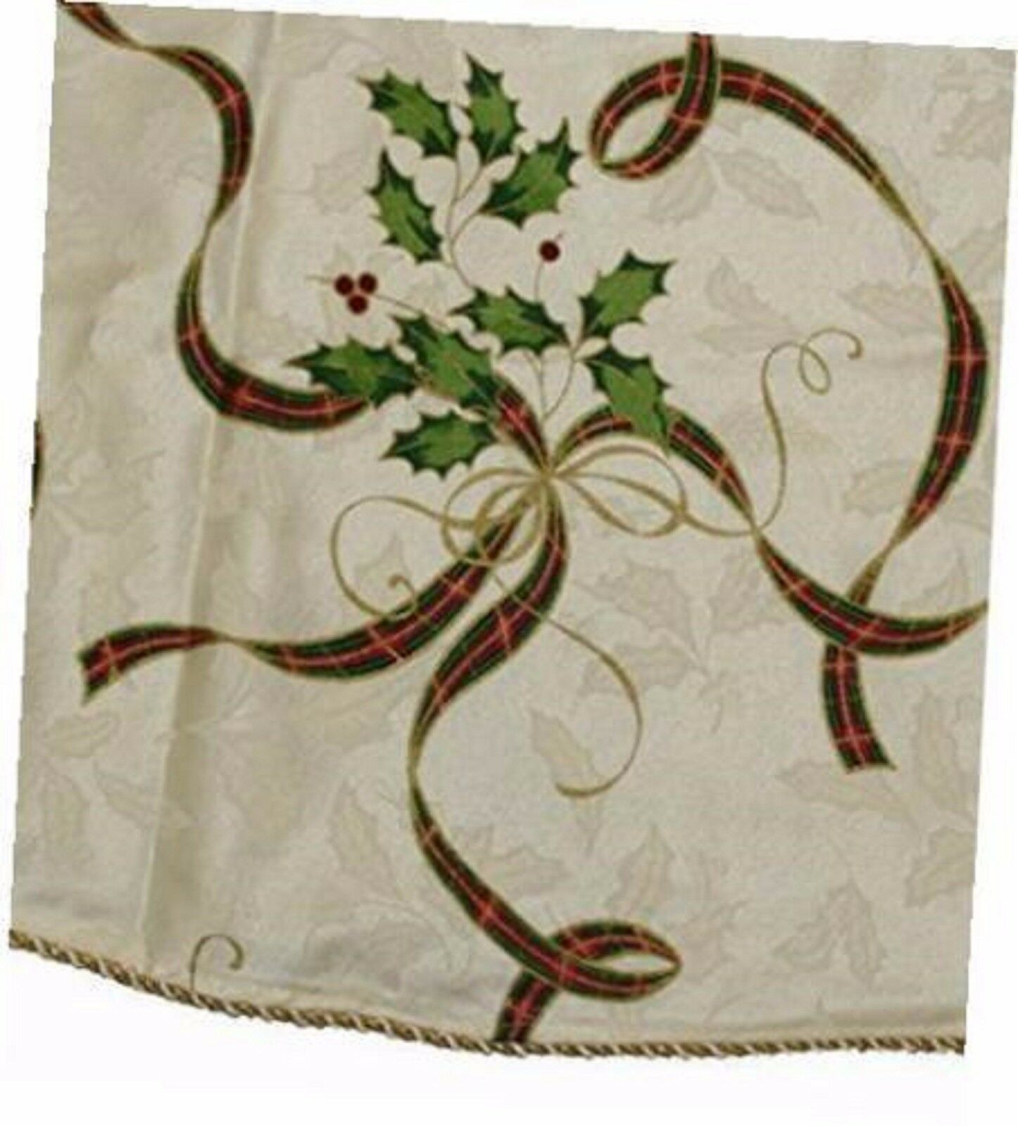 Lenox Holiday Nouveau Ribbon Tree Skirt 60