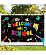 """Fabric Welcome Back to School Banner 45x72"""", Decor for Classroom, School... - $13.39"""