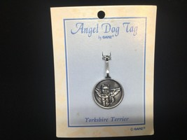 Yorkshire Terrier Dog Guardian Angel Pewter Protection Medal Médaille Chien - $8.68