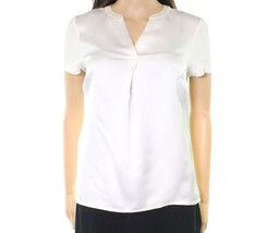 Calvin Klein NEW White Ivory Womens Petite Split-Neck Blouse PXL 4317-4 - $26.38