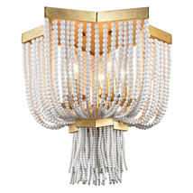 Beads & Antique Gold Leaf French Moroccan Ceiling Mount Chandelier NEW $800 - $532.62