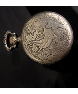 Antique sterling Pocket watch  Signed French artist Frainier  Victorian ... - $650.00