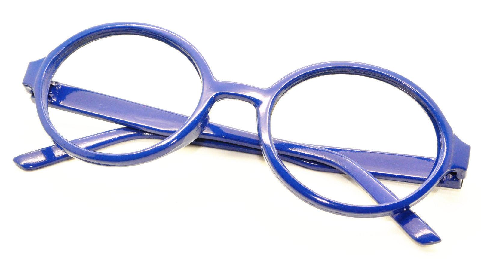 6pc Kids Toy Eyewear Geek Nerd Wizard Costume Oval Shape Glasses Frames NO LENS