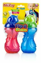 Nuby 2-Pack No-Spill Flip-It Cups, 10 Ounce - $19.97