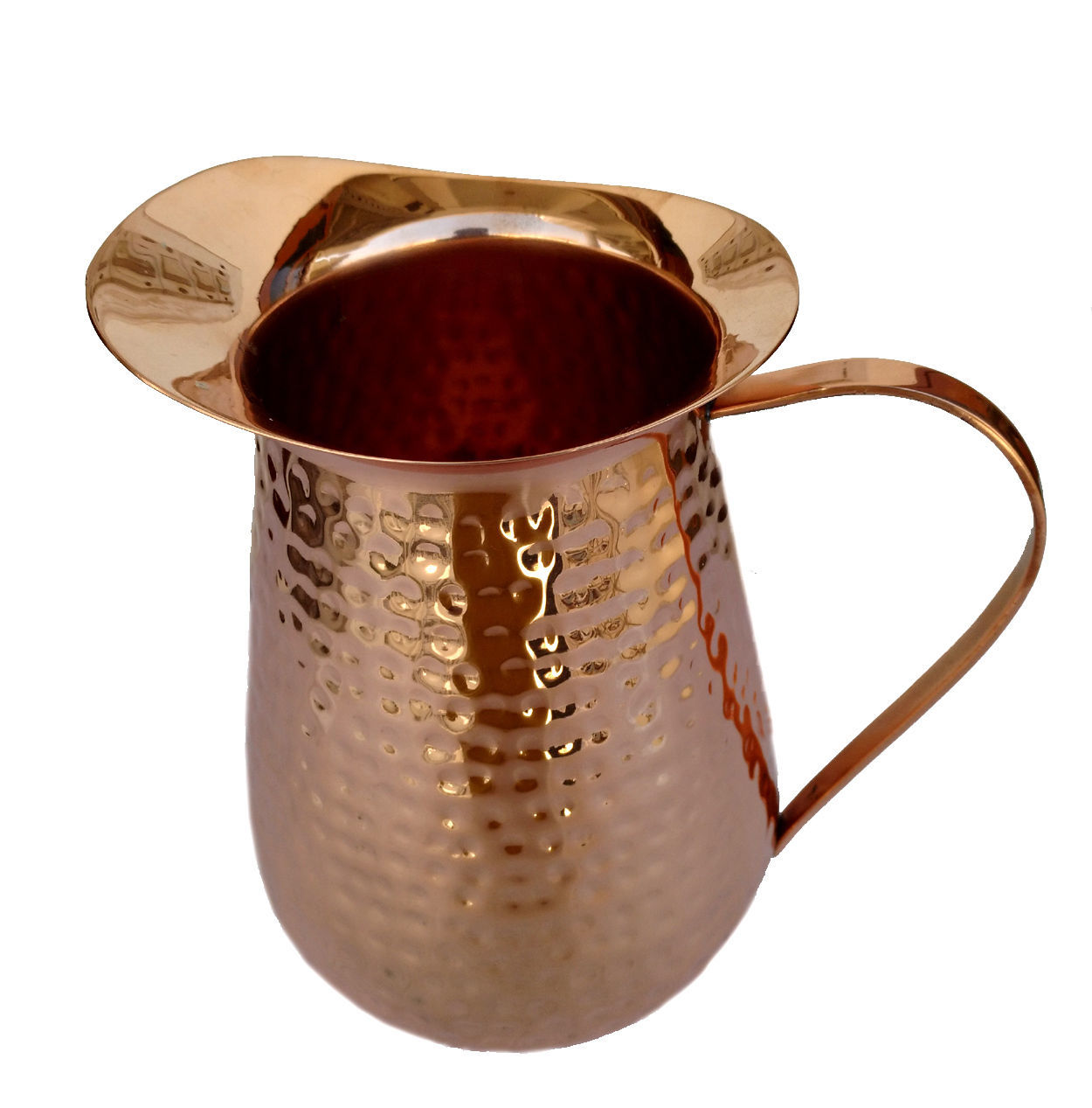 Copper Jug Heavy Gauge Pure Solid Hammered Moscow Pure Copper Pitcher For home