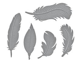 Spellbinders Shapeabilities Etched Feathers Dies #S4-428 image 2