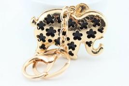 Gold Sparkling Elephant Fashion Keychain Crystal Cute Animal  #MCK11 - $18.17
