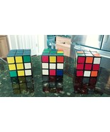 Lot of 3 1980s Vintage Rubik's Cubes 3x3x3 Puzzle  Original - missing 2 ... - $29.88