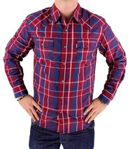 NEW NWT LEVI'S MEN'S LONG SLEEVE BUTTON UP CASUAL DRESS SHIRT RED 3LYLW0042