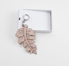 Michael Kors Large Leaf Crystal Ballet Leather Bag Charm Key Chain NWT - $49.50