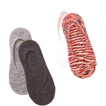 No Boundaries Liner Socks 4 Pack Women's Shoe Size 4-10 Orange #05 - $9.89