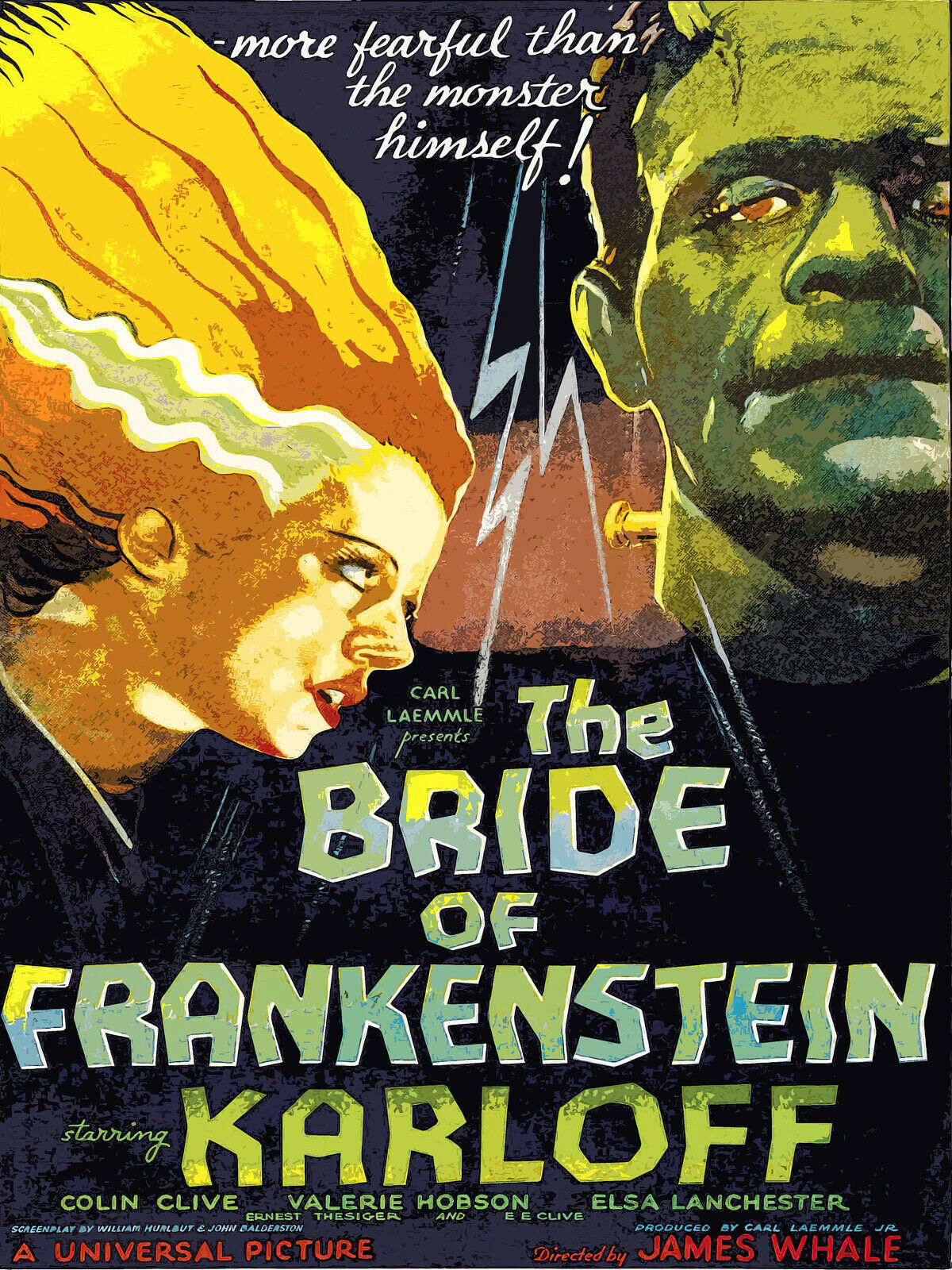 Primary image for Decoration Poster.Room interior wall.Art decor.Bride of Frankenstein movie.11268