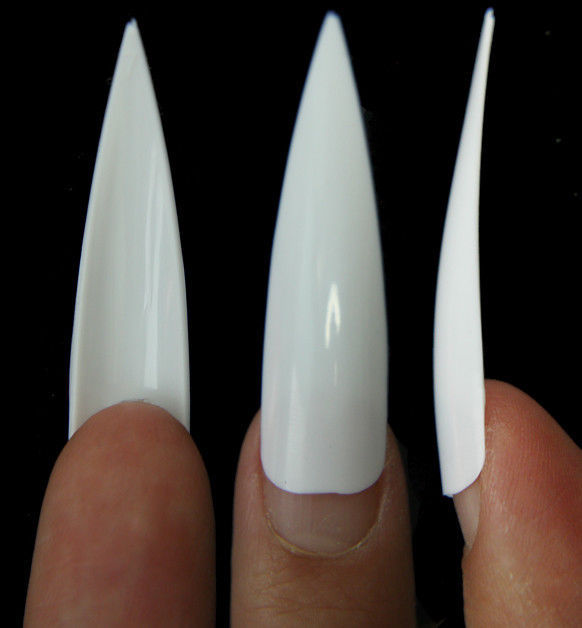 500pc Claw Stiletto Nail Tips Divot False and 10 similar items