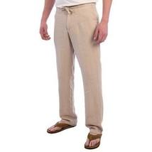 Toscano Pantalones Largos, Lino Natural, XL - $34.74